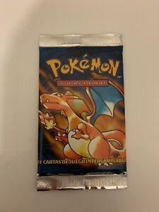 Pokemon Base Set Charizard 1st Edition Spanish Booster Pack 1999 WOTC - RARE!