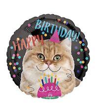 "Happy Birthday Cat 18"" Balloon Birthday Party Decorations"