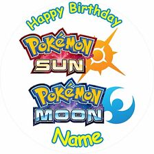 POKEMON SUN AND MOON  ICING CAKE TOPPER