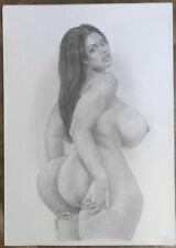 """TIFFANY"": new erotic drawing by artist PHIL HENDERSON, signed"