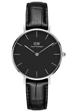 DANIEL WELLINGTON Damenuhr Classic Petite Reading Schwarz/Silber 32 mm DW0010017