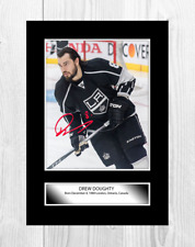 More details for drew doughty los angeles kings nhl signed a4 poster choice of frame