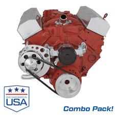 Small Block Chevy Electric Water Pump With V Belt Alternator Bracket Sbc 350 Ewp