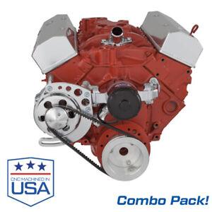 Small Block Chevy Electric Water Pump with V-Belt Alternator Bracket SBC 350 EWP