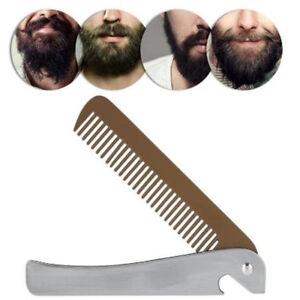 1PC Stainless Steel Beard Comb Bottle Opener Folding Mustache Tool Portable SG