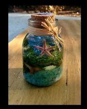 Tropical Florida Sand Beach Ocean Aquarium Sea Shells Seascapes In A Bottle #63