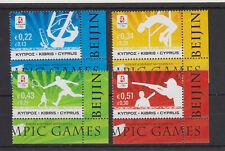 CYPRUS MNH STAMP SET 2008 OLYMPIC GAMES BEIJING SG 1165-1168