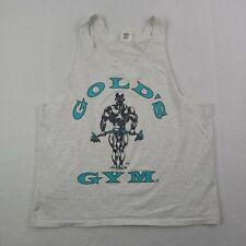 Vintage Golds Gym Tank Top Shirt Mens XL Arlington Virginia Bodybuilder Gray