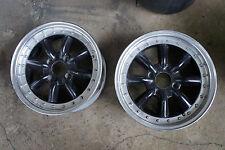 "2pc JDM 15"" Black Racing watanabe old school rims wheels ae86 SSR ke70 br"