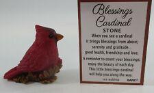 zzX BLESSINGS CARDINAL Miniature figurine serenity gratitude friendship love