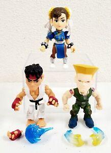 Loyal Subjects Street Fighter Figures Lot of 3 TRU Toys R Us Ryu Chun-li Guile