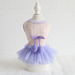 Lace Dress Dog Puppy Teacup Pet Apparel Clothes for Yorkie Maltese Kitten XXS XS