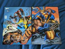 4 Double sided Wolverine mini posters X-Men Marvel Comics