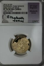 2016-W NGC PR70 ULTRA CAMEO NATIONAL PARK SERVICE  FIRST DAY OF ISSUE