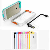 Coque iPhone Cable Lightning Integré Chargeur Data USB Etui Shockproof Luxe fun