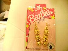 Barbie For Girls Gold Star Earrings Wholesale Lot Of 12 Pair New In Resale Pkg.