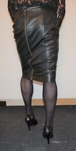 FANTASTIC AND SOFT SEXY REAL LEATHER PENCIL SKIRT MISTRESS CD/TV M&S AUTOGRAPH