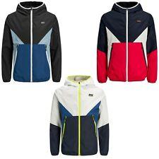Jack and Jones Para hombre chaquetas con capucha informal impermeable cremallera abrigos Prendas de abrigo