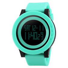 Simple Fashion Waterproof LED Digital Date Alarm Quartz Wrist Watch Rubber Band