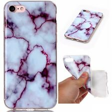 Rubber Granite Marble Pattern Slim Soft TPU Shockproof Back Case Cover For Phone