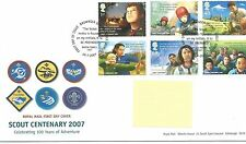 wbc. - GB - FIRST DAY COVER - FDC - COMMEMS -2007- SCOUTS - Pmk BROWNSEA ISLAND