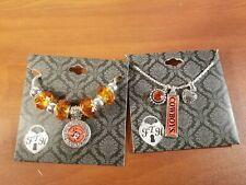 Set of Oklahoma State Cowboy Necklace And Bracelet