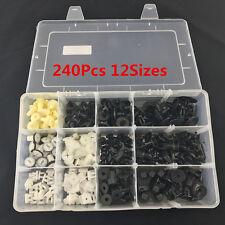 240PCS Interior Door Trim Plastic Panel Retainers Clips Kit Car Truck 12 Sizes