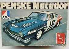 AMT 1970's AMC Penske Matador NASCAR Race Stock Car Vintage Model Kit 1/25 T430