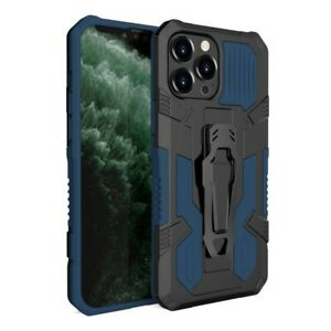 For iPhone 13 / 13 Pro Max - Hybrid Dual Layered Magnetic Clip Phone Case Stand