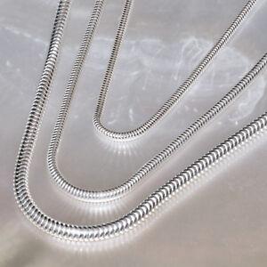 Silberkette, Schlangenkette, 925er Silber, 40 - 80 cm lang, 2 - 3 mm stark,