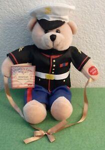 Chantilly Lane Musical USMC Marine Corps Teddy Bear From the Halls of Montezuma