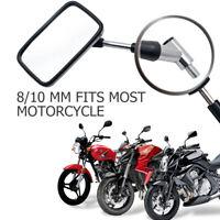 2Pcs Motorcycle Rear View Side Mirrors 8/10MM For HARLEY HONDA SUZUKI YAMAHA