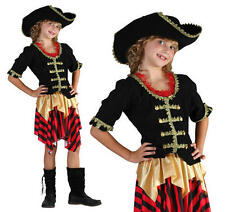 Childrens Pirate Fancy Dress Costume Buccaneer Halloween Outfit Girls XL