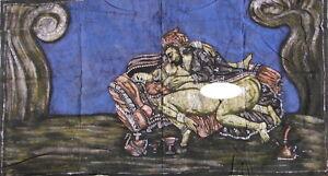 Kamasutra Tenture indienne érotique vrai Batik Fait main Inde Coton Art Boho K1