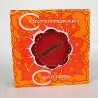 Vintage 60s 70s Mod Contemporary Coasters Ritepoint Advertising DELTA Red Black