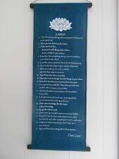 "Inspirational balinese affirmation large hanging banner ""Karma"" - Turquoise"