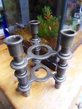 Lot Bougeoir chandelier cuivre ancien deco design collection de style Nagel