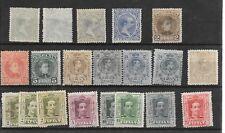 España. Conjunto de 20 sellos nuevos Alfonso XIII. Valor de catalogo 214.30 Euro
