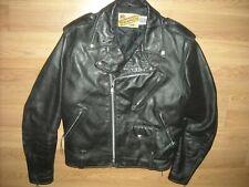 Vtg 80S Mens 44 Schott 125 Black Leather Motorcycle Biker Jacket