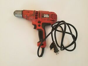 TESTED Black & Decker DR340 6.0 Amp 3/8 Inch Keyless Chuck Corded Drill Driver