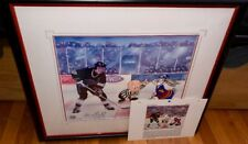 Warner Brothers Wayne Gretzky Signed Cel The Great Ones Los Angeles Kings Rare