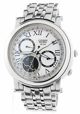 DISPLAY MODEL CITIZEN ECO DRIVE MOON PHASE CALIBRE 8651 WATCH AP1010-51A