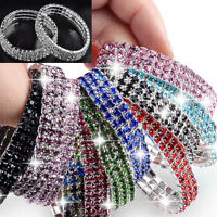 Rhinestone Crystal Stretch Bracelet Bangle Wristband Elastic Wedding Bridal Gift
