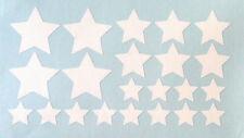 22 Sterne  Aufkleber/Sticker Wandtattoo, Deko, basteln, Fenster, Farbe: Weiß