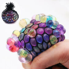 Novelty Anti-Stress Sensory Squishy Mesh Venting Ball Grape Squeeze Toy HOT NW