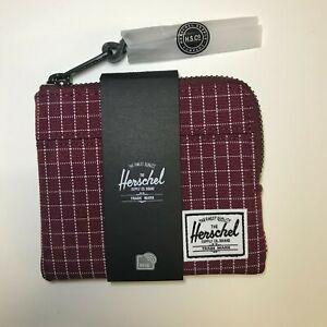 Herschel Supply Co. - Johnny Wallet/Pouch/Card Holder [Wine Grid]