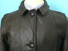 VINTAGE 1950`S MID-WESTERN SPORTS TOGS BROWN QUILTED DEERSKIN JACKET  36 CHEST