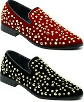 Men's Vintage Sparkle Dress Loafers Slip On Classic Tuxedo Dress Shoes spk21