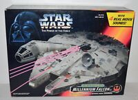 Star Wars POTF Kenner Millennium Falcon Toy Ship Vehicle Electronic New Sealed