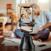 Smart Shooting Selfie Stick Smartphone Holder Mount 360 Rotation Auto Face Track